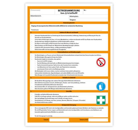 Betriebsanweisung und Unterweisung