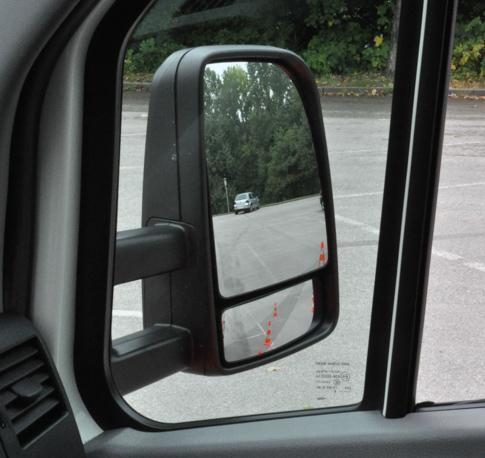 Spiegeleinstellung und toter Winkel